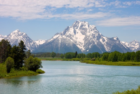 wyoming: Mt. Moran at Oxbow Bend in the Grand Teton National Park, Wyoming.