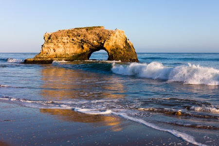 coastal erosion: Natural Bridge in California
