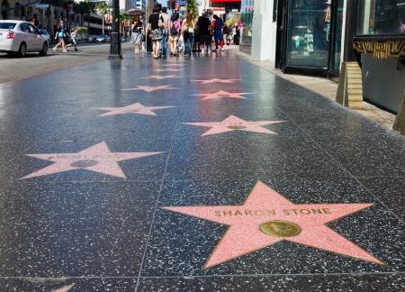 ハリウッド ウォーク オブ フェーム 2011 年 9 月 4 日にカリフォルニア州ハリウッドのハリウッド - 2011 年 9 月 4 日: シャロン ・ ストーン スター。 報道画像