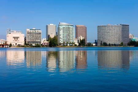 カリフォルニア州オークランドでメリット湖 写真素材