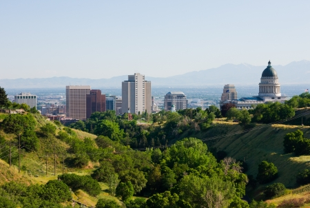downtown capitol: Salt Lake City, Utah