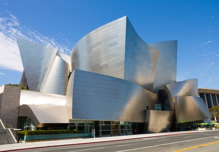 LOS ANGELES - SEPTEMBER 5: Walt Disney Concert Hall in Los Angeles, CA on September 5, 2011. The hall was designed by Frank Gehry and opened on October 24, 2003. 新闻类图片