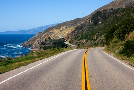 Highway through California Coast photo