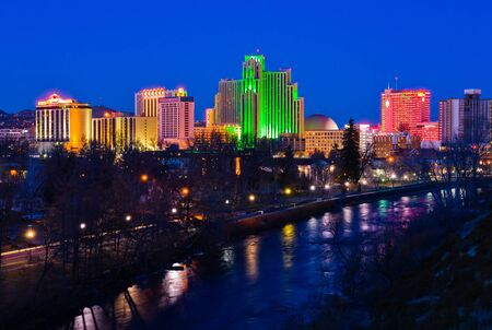 Reno, USA - January 21, 2007: Reno, known as The Biggest Little City in the World, is famous for it\