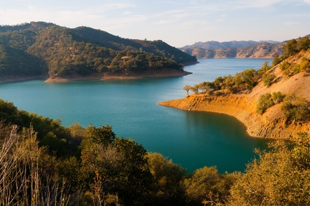 lake shore: Lake Berryessa in Northern California
