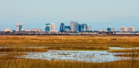Sacramento skyline, California Stock Photo