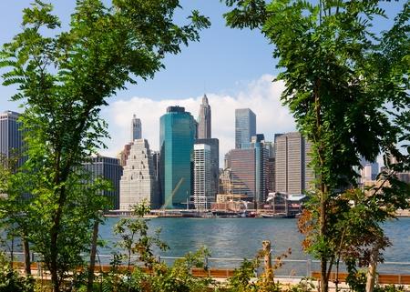 manhatten skyline: Skyline von Manhattan, New York City Lizenzfreie Bilder