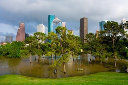 テキサス州ヒューストンで湛水遊び場 写真素材
