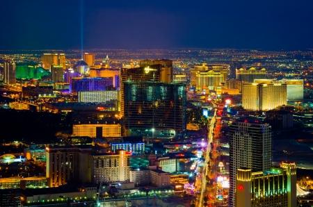 Las Vegas at night  Editorial