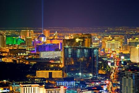 las vegas  nevada: Aerial view of Las Vegas strip