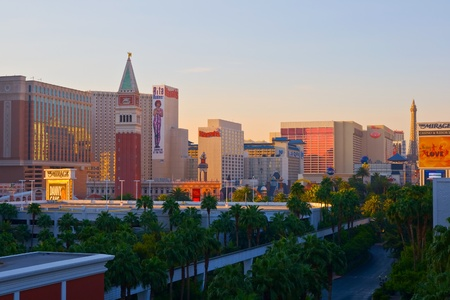 Las Vegas at sunrise