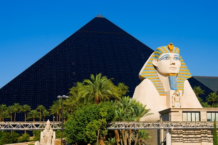 Pyramid Hotel and Sphinx in Las Vegas