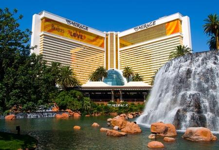 ラスベガスのミラージュのカジノのホテル