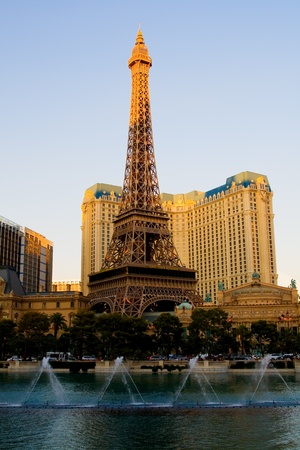 Eiffel Tower in Las Vegas at sunset  Stock Photo - 13021177