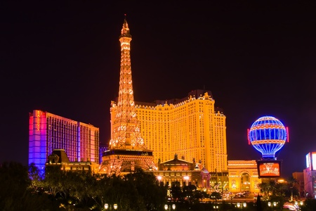 Eiffel Tower in Las Vegas at night  Stock Photo - 12993592