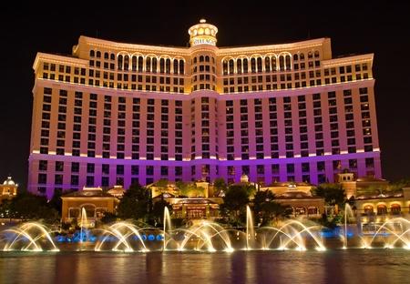 bellagio: Dancing Water Fountain in Las Vegas  Editorial