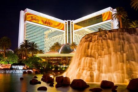 mirage: The Mirage Hotel Casino at night