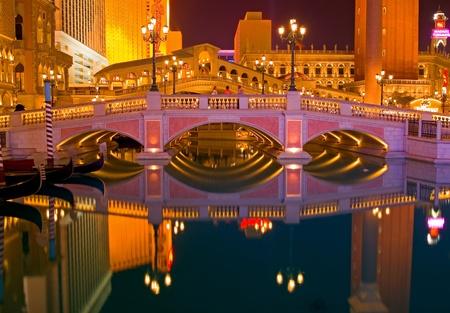 venice: Venetian Las Vegas at night  Editorial
