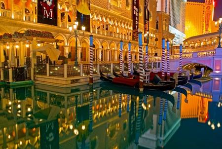 Venetian Las Vegas at night  Redactioneel