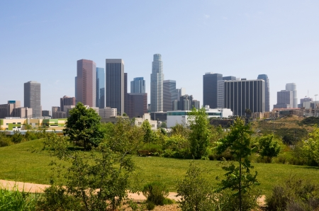 downtown district: Los Angeles downtown Stock Photo