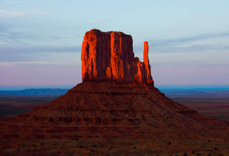 Monument Valley at sunset photo