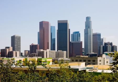 los: Skyscrapers in downtown Los Angeles