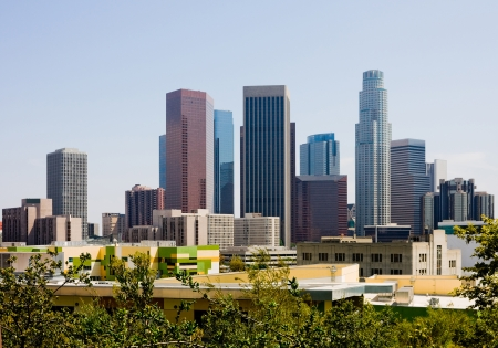Wolkenkratzer in der Innenstadt von Los Angeles Standard-Bild - 14399972