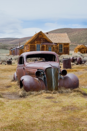abandoned car: Bodie town ghost town , California