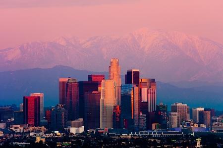 Los Angeles bei Sonnenuntergang Standard-Bild - 18675384