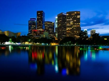 Los Angeles bij nacht Stockfoto