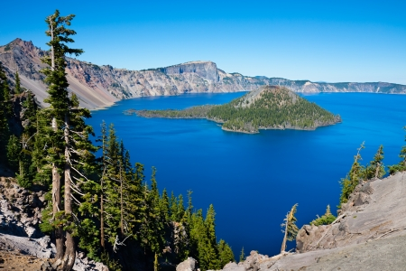 crater lake: Crater Lake National Park, Oregon Stock Photo