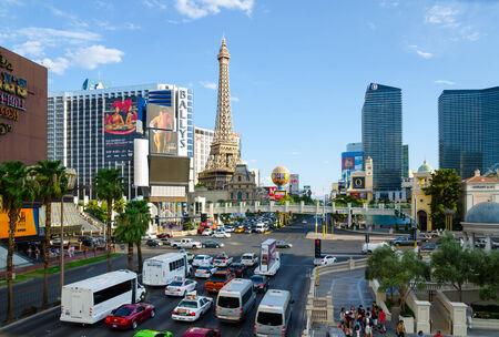 LAS VEGAS - AUGUST 13  A view of Las Vegas strip on August 13, 2012 in Las Vegas  The strip is approximately 4 2 mi  6 8 km  long