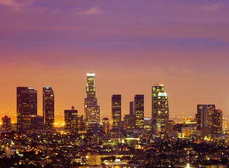 Los Angeles in der Nacht Standard-Bild - 29744267