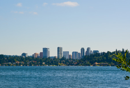 Skyline of Bellevue Washington Stock Photo