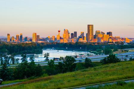 Calgary Canada at sunrise