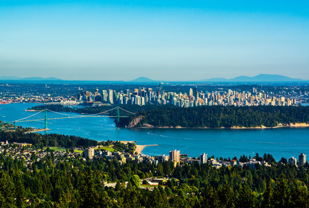 aerial view city: Aerial view of Vancouver, Canada Stock Photo