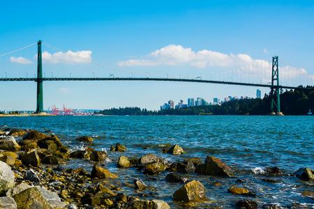 west gate: Lions Gate Bridge in Vancouver, Canada