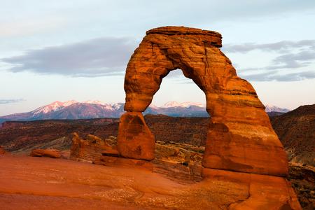 Delicate Arch in Arches National Park Utah 版權商用圖片