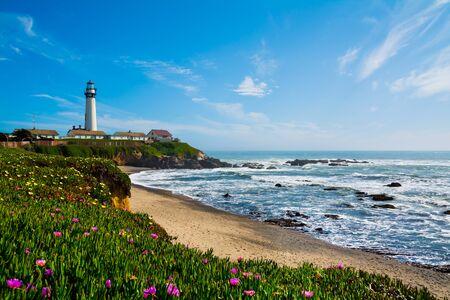 Pigeon Point Lighthouse in California 版權商用圖片