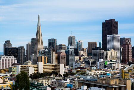 Skyscrapers in downtown San Francisco 版權商用圖片