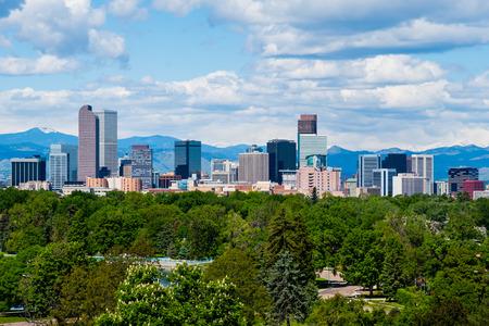 Wolkenkrabbers in het centrum van Denver, Colorado