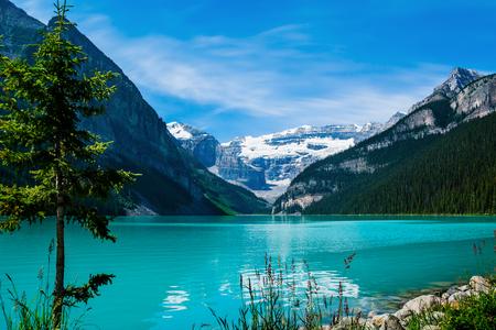Lake Louise in Canada 版權商用圖片