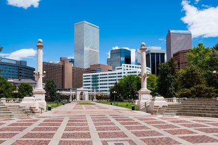 Buildings in downtown Denver Colorado 版權商用圖片