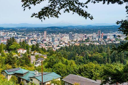 Aerial view of Portland Oregon