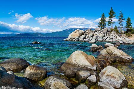 Rocky shore at Lake Tahoe