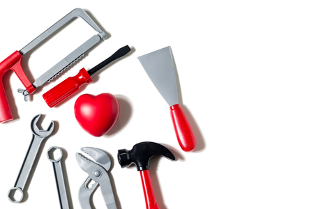 Tools on a white background. Banco de Imagens
