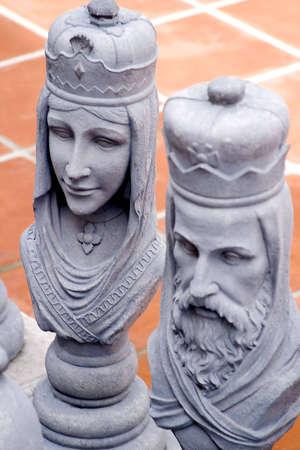 Le Roi et la Reine Chess Pieces Banque d'images - 551618
