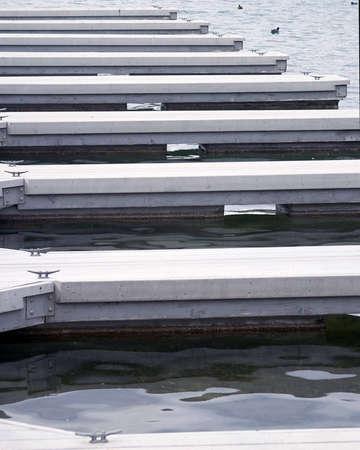 Empty boat landings.