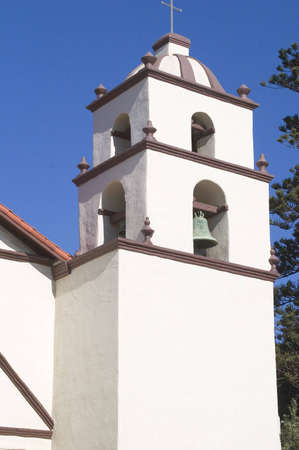 Bell tower of an old California mission.