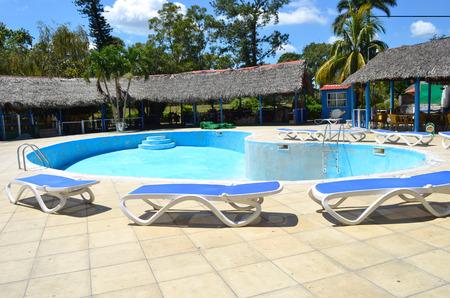 Old Image Pool. Revitalization of the Villa La Granjita Hotel swimming pool. Cuba continues to invest in tourism despite the hostile politics of the USA government.